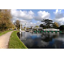 Bates lock on River Cam Photographic Print