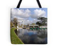 Bates lock on River Cam Tote Bag