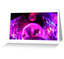 pink ships in space Greeting Card