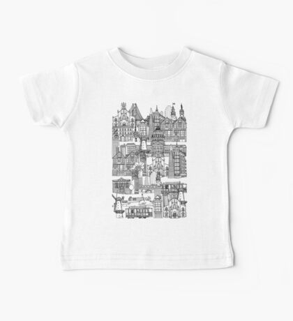 San Francisco toile rose Baby Tee