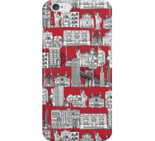 New York toile red iPhone Case/Skin