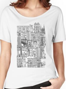 New York toile red Women's Relaxed Fit T-Shirt