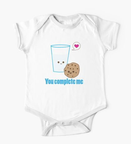 Kawaii Valentines Milk&Cookies One Piece - Short Sleeve