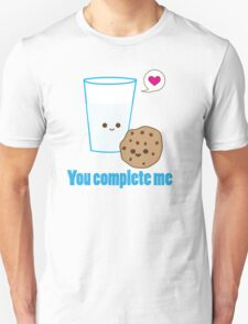 Kawaii Valentines Milk&Cookies Unisex T-Shirt