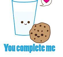 Kawaii Valentines Milk&Cookies by FleurGraphics