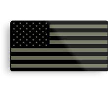 American Flag - Olive Metal Print