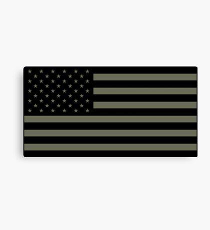 American Flag - Olive Canvas Print