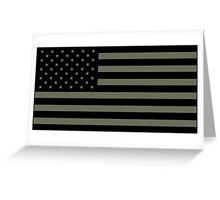 American Flag - Olive Greeting Card