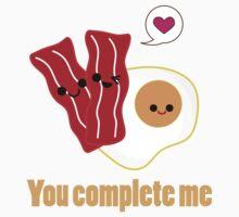 Kawaii Valentines Bacon&Eggs Kids Tee