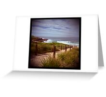holga madness.....sea view with shark bait Greeting Card