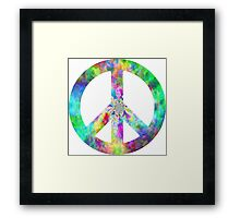 Peace Sign Trippy Hippie Framed Print