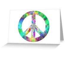 Peace Sign Trippy Hippie Greeting Card