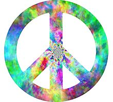 Peace Sign Trippy Hippie Photographic Print