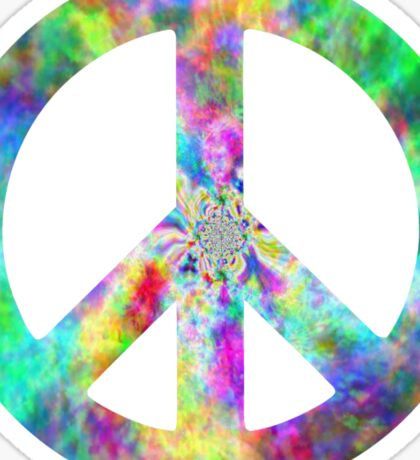 Peace Sign Trippy Hippie Sticker