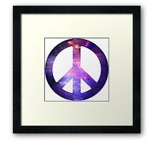 Peace Sign Galaxy Framed Print