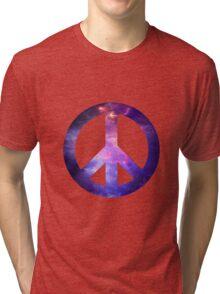 Peace Sign Galaxy Tri-blend T-Shirt