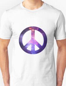 Peace Sign Galaxy Unisex T-Shirt