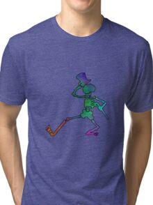 Grateful Dead Dancing Skeleton Trippy Tri-blend T-Shirt