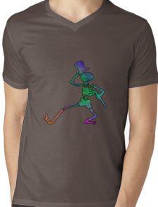 Grateful Dead Dancing Skeleton Trippy Mens V-Neck T-Shirt