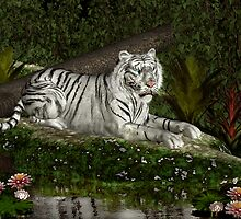 White Tiger Resting by Walter Colvin