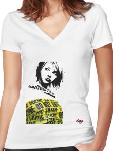 Enter Women's Fitted V-Neck T-Shirt