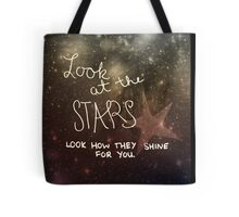 Yellow Coldplay Tote Bag