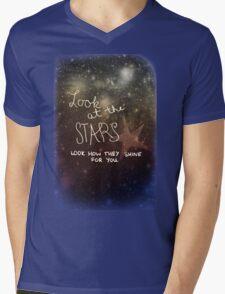 Yellow Coldplay Mens V-Neck T-Shirt