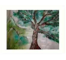 Tree on Rice Paper Art Print