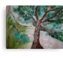 Tree on Rice Paper Canvas Print