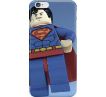 Superman (man of Lego) iPhone Case/Skin
