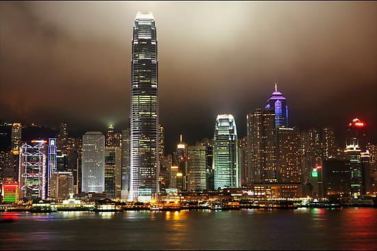 Hong Kong Island at night by ozczecho