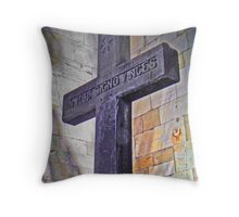 St. Cuthbert's Church Yard - York Throw Pillow