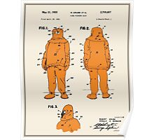 Fire Fighter Suit Patent - Colour Poster