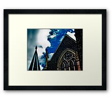 God versus Church Framed Print