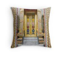 Temple entrance Throw Pillow