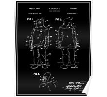 Fire Fighter Suit Patent - Black Poster
