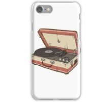 Vintage Record Player iPhone Case/Skin