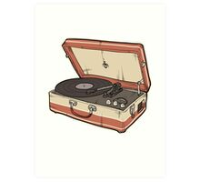 Vintage Record Player Art Print