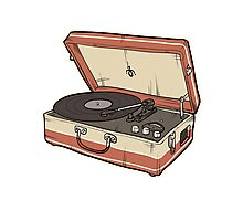 Vintage Record Player Photographic Print