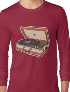 Vintage Record Player Long Sleeve T-Shirt