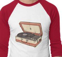 Vintage Record Player Men's Baseball ¾ T-Shirt