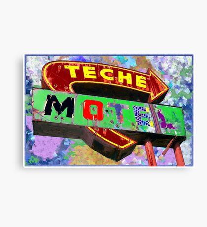 Teche Motel Canvas Print