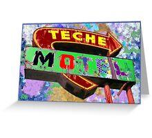 Teche Motel Greeting Card