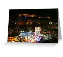 New Year and Christmas in Edinburgh Greeting Card