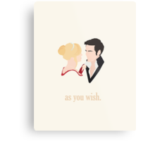 Captain Swan 'As You Wish'  Metal Print
