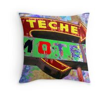 Teche Motel Throw Pillow