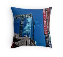 Juxtaposed Building II Throw Pillow