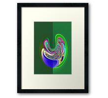 the grass is always greener... Framed Print