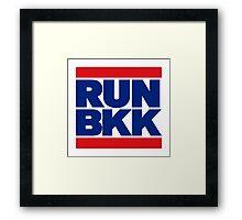 RUN BKK THAI FLAG Framed Print