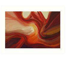 "Abstract Digital Painting - ""Desert Curve"" Art Print"